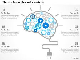 Human Brain Idea And Creativity Flat Powerpoint Design