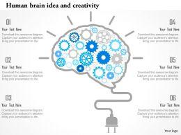 human_brain_idea_and_creativity_flat_powerpoint_design_Slide01
