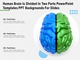 Human Brain Is Divided In Two Parts Powerpoint Templates Ppt Backgrounds For Slides