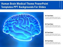 Human Brain Medical Theme Powerpoint Templates PPT Backgrounds For Slides