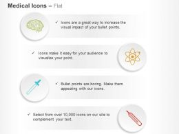 Human Brain Nuclear Chemical Dropper Thermometer Ppt Icons Graphics