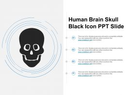 Human Brain Skull Black Icon Ppt Slide