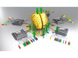 Human Brain With Multiple Ic Stock Photo