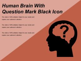Human Brain With Question Mark Black Icon