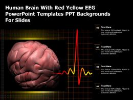 Human Brain With Red Yellow Eeg Powerpoint Templates Ppt Backgrounds For Slides