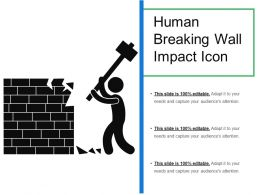 Human Breaking Wall Impact Icon