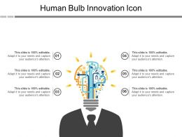 Human Bulb Innovation Icon