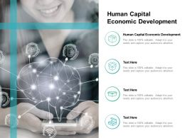Human Capital Economic Development Ppt Powerpoint Presentation Inspiration Slides Cpb