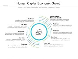 Human Capital Economic Growth Ppt Powerpoint Presentation Summary Ideas Cpb