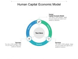 Human Capital Economic Model Ppt Powerpoint Presentation Ideas Visual Aids Cpb
