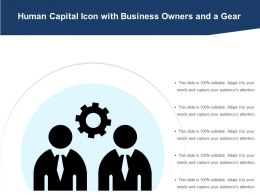 Human Capital Icon With Business Owners And A Gear