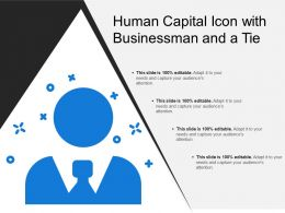 Human Capital Icon With Businessman And A Tie