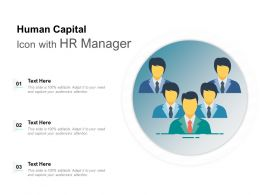 Human Capital Icon With HR Manager