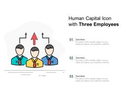 Human Capital Icon With Three Employees