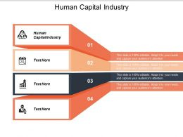 Human Capital Industry Ppt Powerpoint Presentation Styles Clipart Images Cpb