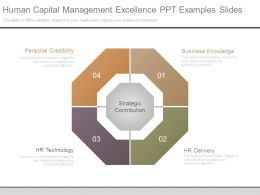 Human Capital Management Excellence Ppt Examples Slides