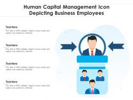 Human Capital Management Icon Depicting Business Employees