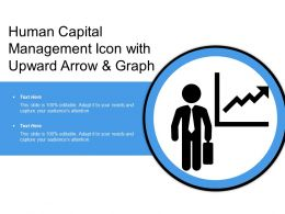 Human Capital Management Icon With Upward Arrow And Graph