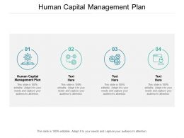 Human Capital Management Plan Ppt Powerpoint Presentation Pictures Cpb