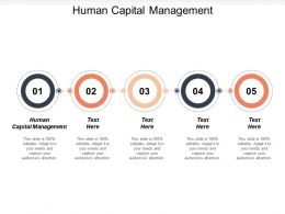 Human Capital Management Ppt Powerpoint Presentation Ideas Slides Cpb
