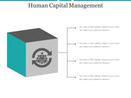 Human Capital Management Ppt Slide Show