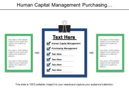 Human Capital Management Purchasing Management Database Design Development Cpb