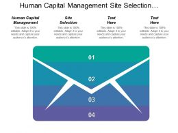 Human Capital Management Site Selection Enterprise Asset Management
