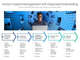 Human Capital Management With Organized Onboarding