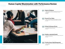 Human Capital Maximization With Performance Review