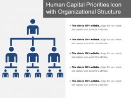 Human Capital Priorities Icon With Organizational Structure