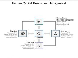 Human Capital Resources Management Ppt Powerpoint Presentation File Master Slide Cpb