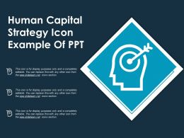 Human Capital Strategy Icon Example Of Ppt