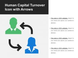 Human Capital Turnover Icon With Arrows