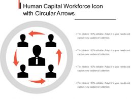 Human Capital Workforce Icon With Circular Arrows