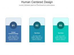 Human Centered Design Ppt Powerpoint Presentation Professional Designs Cpb