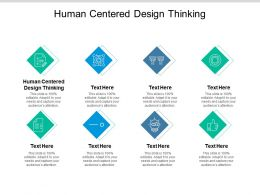 Human Centered Design Thinking Ppt Powerpoint Presentation Model Outline Cpb