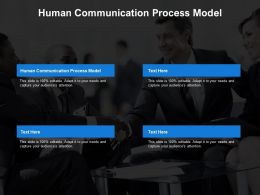 Human Communication Process Model Ppt Powerpoint Presentation Inspiration Samples Cpb