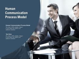 Human Communication Process Model Ppt Powerpoint Presentation Styles Designs Cpb