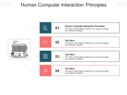Human Computer Interaction Principles Ppt Powerpoint Presentation Inspiration Cpb