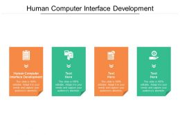 Human Computer Interface Development Ppt Powerpoint Inspiration Information Cpb