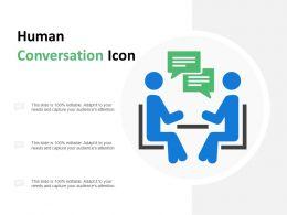 Human Conversation Icon