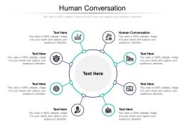 Human Conversation Ppt Powerpoint Presentation Infographic Template Ideas Cpb
