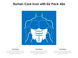 Human Core Icon With Six Pack Abs