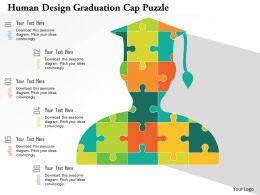 Human Design Graduation Cap Puzzle Flat Powerpoint Design