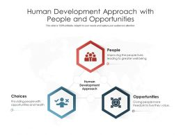 Human Development Approach With People And Opportunities