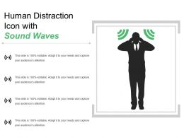 Human Distraction Icon With Sound Waves