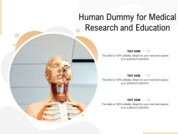 Human Dummy For Medical Research And Education