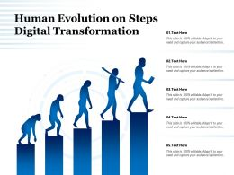 Human Evolution On Steps Digital Transformation