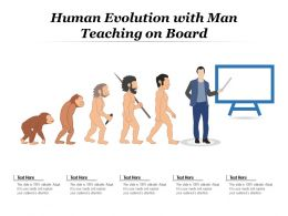 Human Evolution With Man Teaching On Board