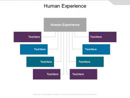 Human Experience Ppt Powerpoint Presentation Pictures Shapes Cpb
